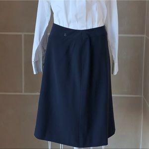 Chanel Wool Logo Midi Skirt